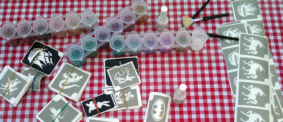 Kinderschminken & Glitzer-Tattoos von Knallfrosch Kinderevents Bonn